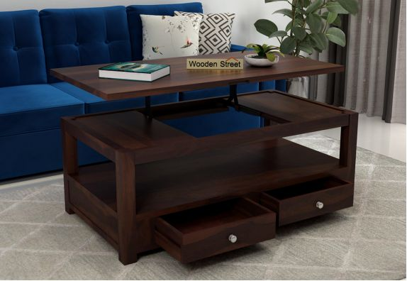 Jack Coffee Table with Lift Top (Walnut Finish)