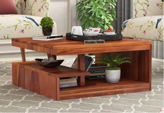 Office Furniture Design: Solid wood coffee table online Bangalore