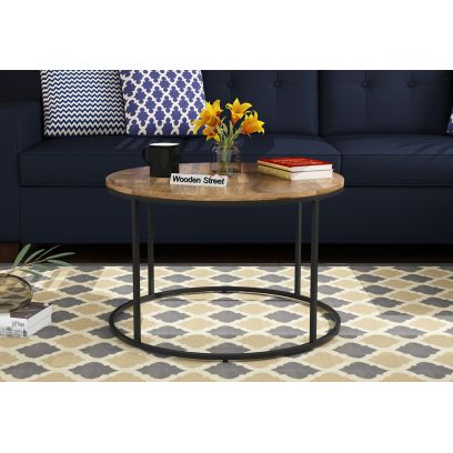 Wooden Round Coffee Table Online In Bangalore India