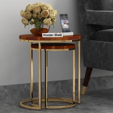 Buy solid wood nest of tables in India