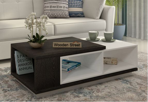 Escobar Coffee Table with Shelves (Flowery Wenge Finish)