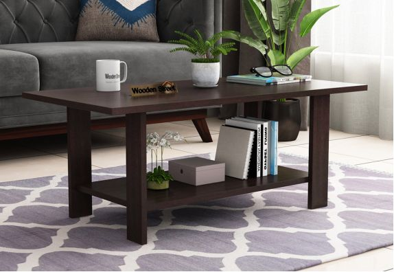 Tanner Coffee Table (Flowery Wenge Finish)