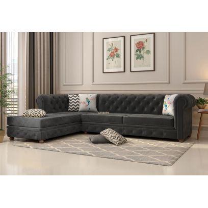 Buy Velvet L Shape Sofa Online in India at Discount Price