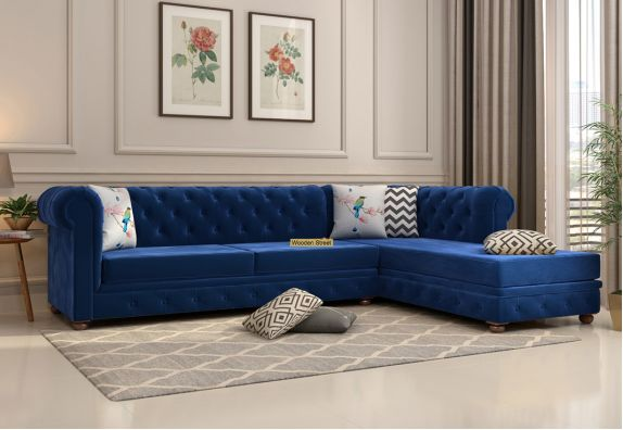 L Type stylish 5 seater sofa set for Living Room