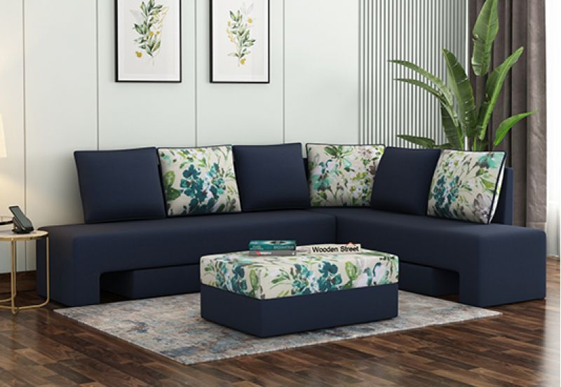 Buy Couch Online: l shaped sofa blue in bangalore