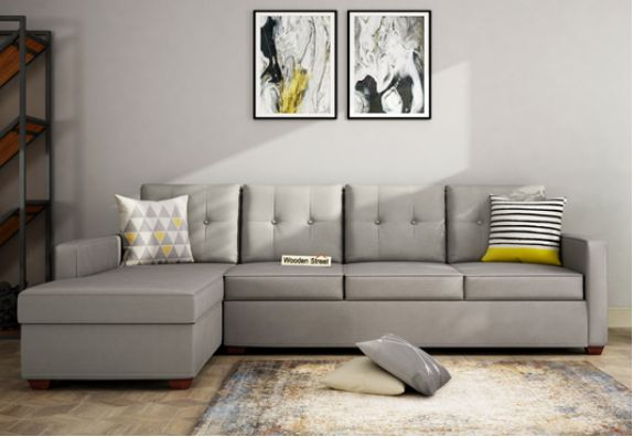 3 Seater Fabric L Shape Sofa Online Shopping in India