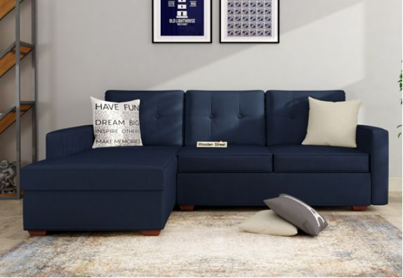 L Shape Sofa Set for Drawing Hall