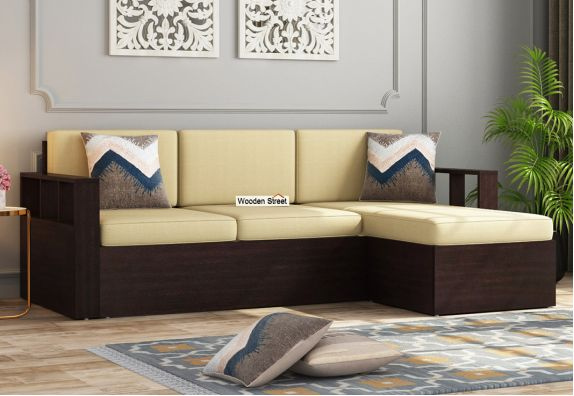 Buy L Shaped Plywood Sofa Online at Wooden Street