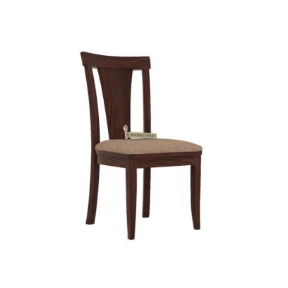 Sofie Dining Chair With Fabric (Walnut Finish)