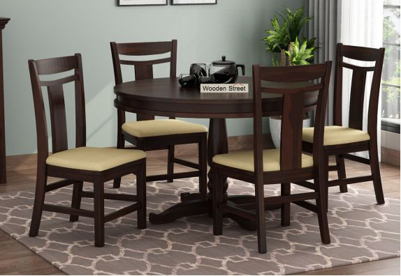 four seater round dining set in Bangalore