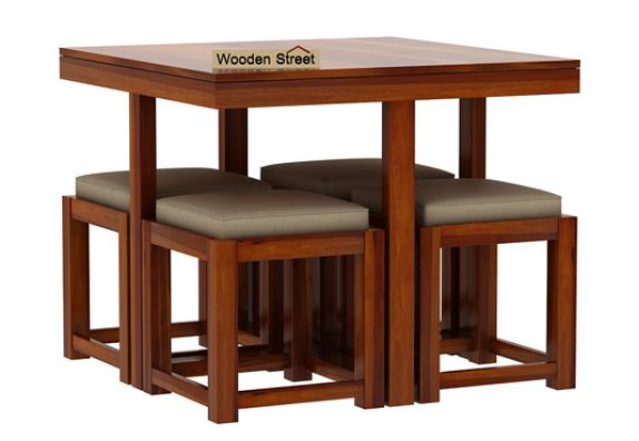 wooden dining table set 4 seater dining table