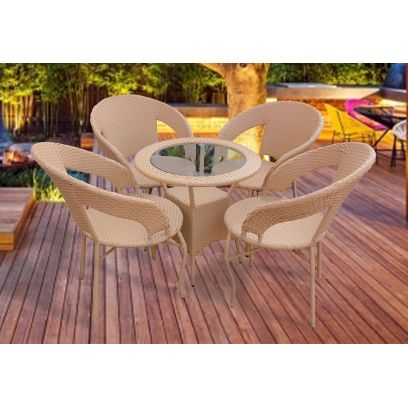 Tayla 4 Seater Outdoor Dining Set