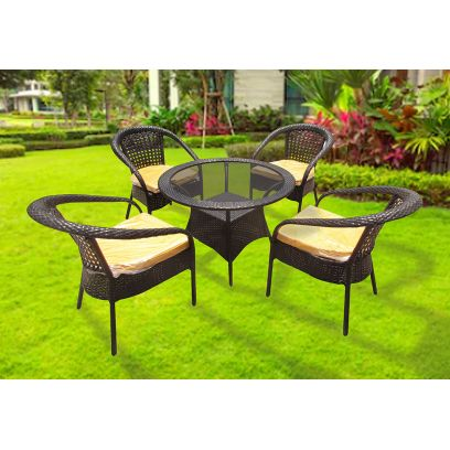 Waver 4 Seater Outdoor Dining Set