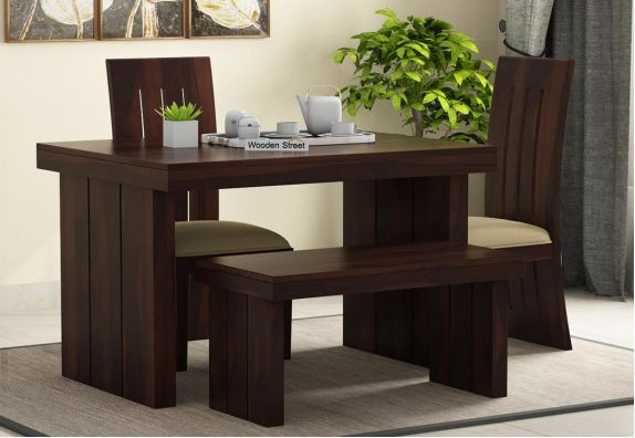 Wertex Compact 4 Seater Dining Set with Bench