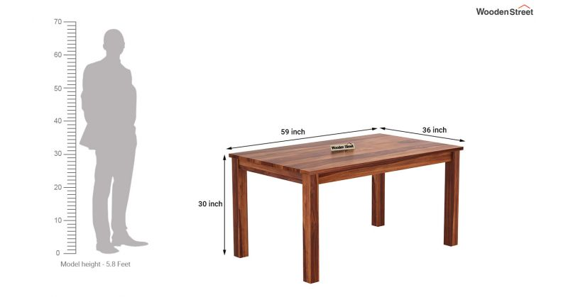 Buy Janet 6 Seater Dining Table Set Honey Finish Online In India Wooden Street