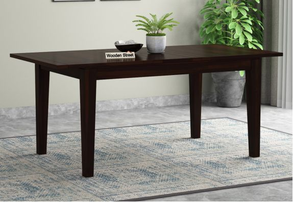 Tim Extendable Dining Table (Walnut Finish)