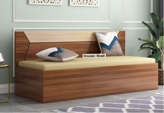 Carmen Divan With Backrest (Exotic Teak Finish)