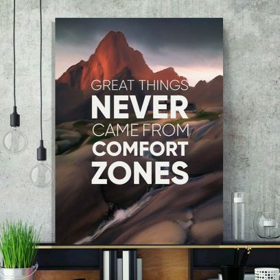 Brown Comfort Zone Basic Canvas Printed Wall Frame