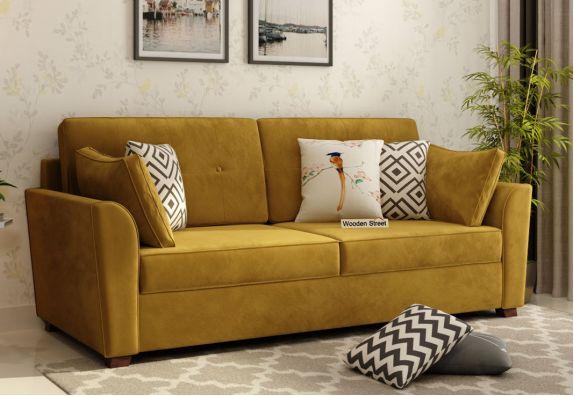 Archerd 3 Seater Sofa (Velvet, Olive Gold)