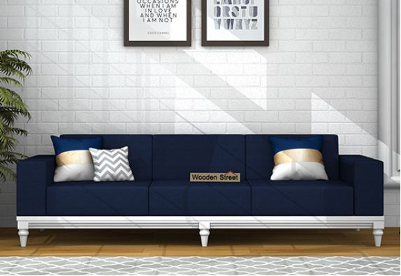 Ayres 3 Seater Fabric Sofa (Indigo Ink)
