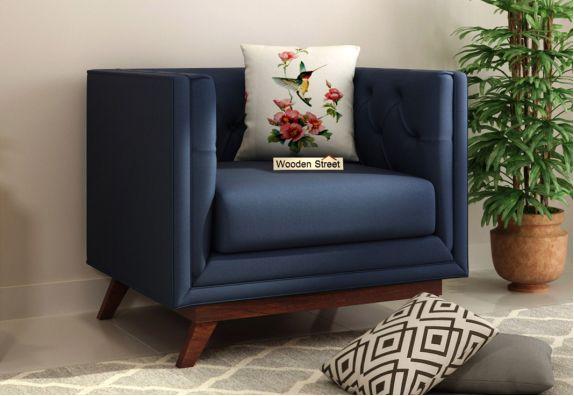 Berlin 1 Seater Fabric Sofa (indigo Ink)
