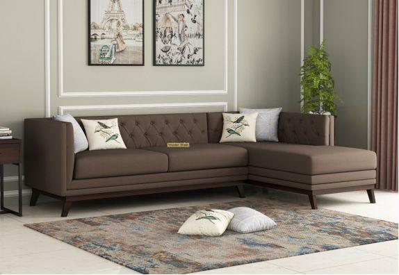Berlin L - Shape Right Aligned Corner Sofa (Cotton, Classic Brown)