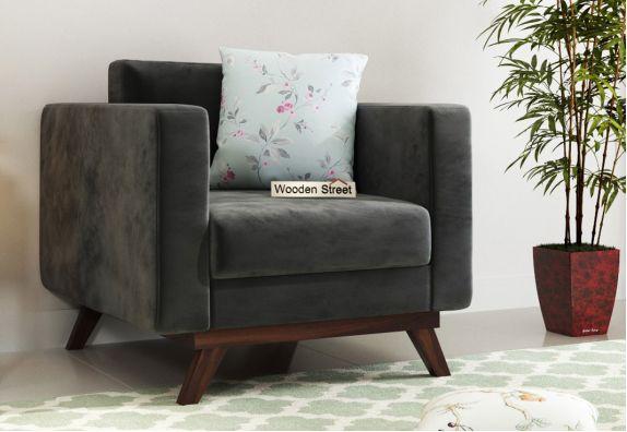 Casper 1 Seater Sofa (Fabric, Graphite Grey)