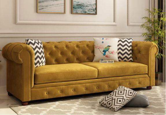 3 seater sofa online, velvet fabric sofa