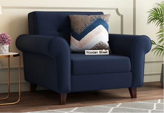 orlando fabric sofa set blue