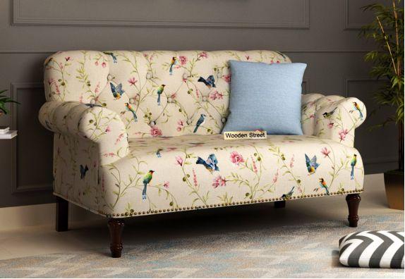 Parker 2 Seater Sofa (Cotton, Cream Robins)