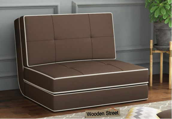 Winsley Fabric Sofa Cum Bed (Brown)