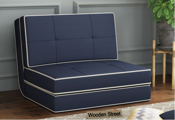 Winsley Fabric Sofa Cum Bed (Blue)