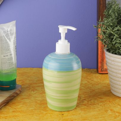 Blue Green Ananda Ceramic Soap Dispenser