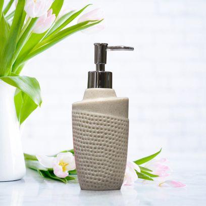 Beige Polyresin Soap Dispenser