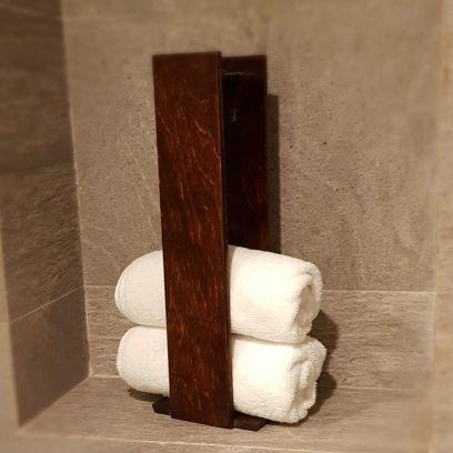 Bathroom  Accessories: Wooden Bathroom Towel Holder in India @Low Price