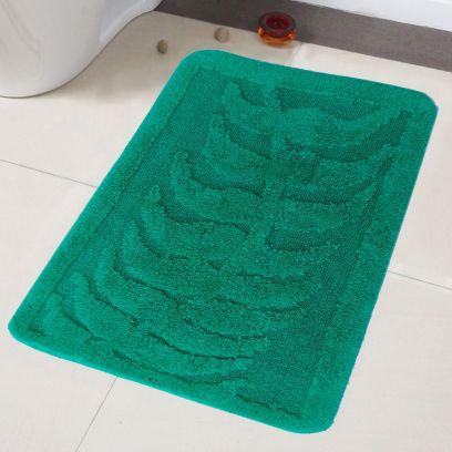 Bathmats Sets :Green Cotton Anti-Slip Extra Large Bathmat