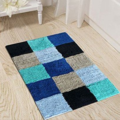 Multi Colour Cotton Anti Slip Bath Mat