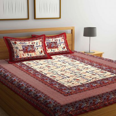 Shop Online Bed Sheet with Pillow Cover