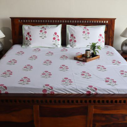 Shop Floral Bed Sheets Online in India @ Wooden Street