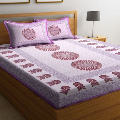 Buy Printed Bed Sheets with Pillow Covers Online in India
