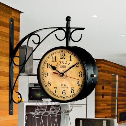 Keeratly Metal Victoria Antique Double Side Platform Clock