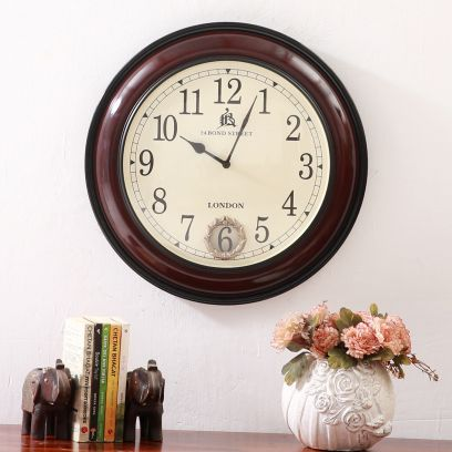 Wooden Wall Clock : Vintage Wall Clocks Online in India