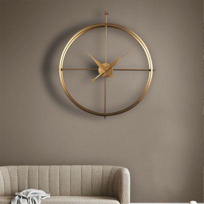 Golden Scarlett Minimalist Small Wall Clock