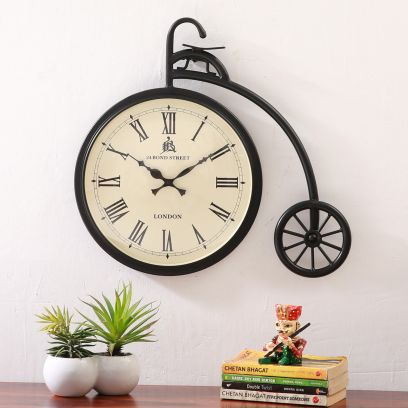 Miller Cycle Shaped Metal Wall Clock