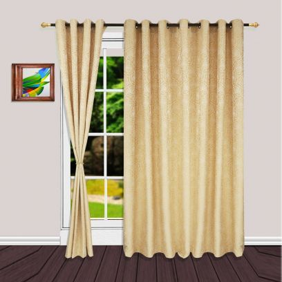Browse designer curtains Online At Best Offer PriceFloral Beige Premium Quality Striped Long Door Curtains
