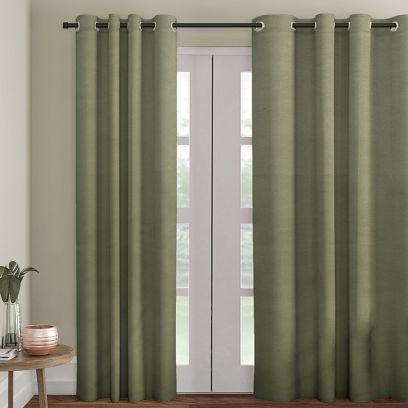 Green Premium Semi Blackout Door Curtain (108 x 54 inch)