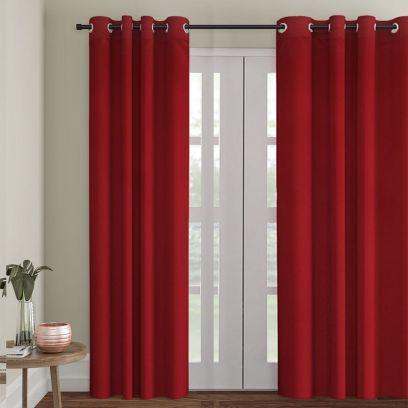 Maroon Semi Blackout Long Door Curtain (108 x 54 inch)