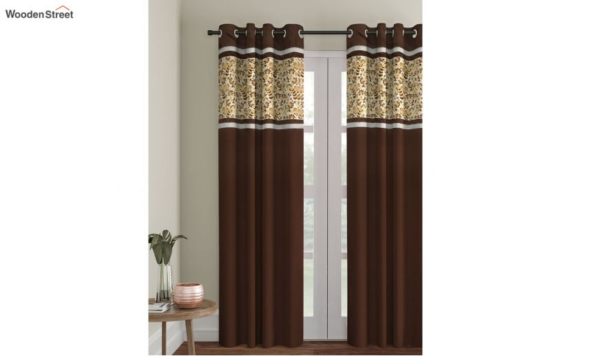 Sworn Pea Embroidered Semi, 84 In Curtains