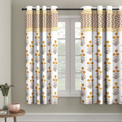 Floral Window Curtain Designs