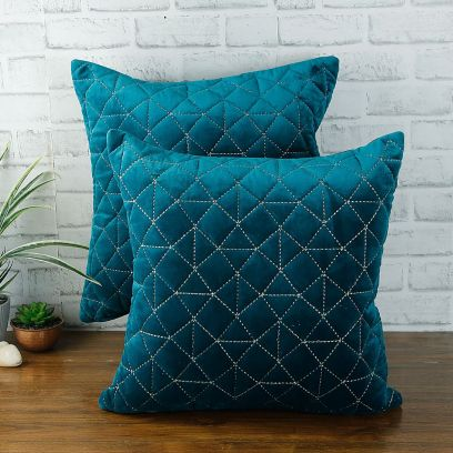 Blue Velvet Cushion Covers 18 x 18
